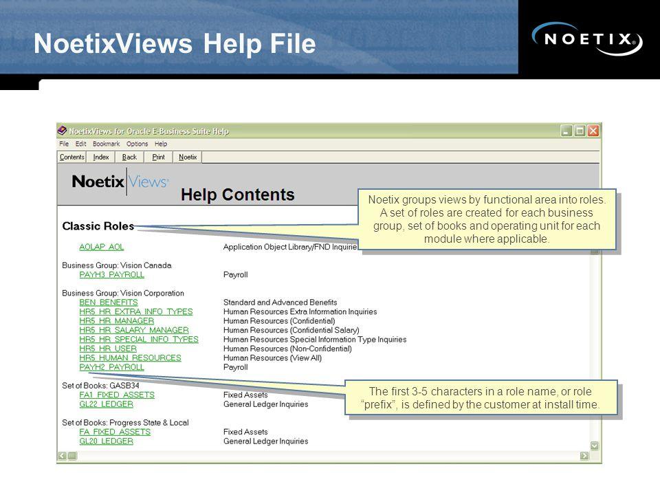 NoetixViews Help File SW - Updated 12/07