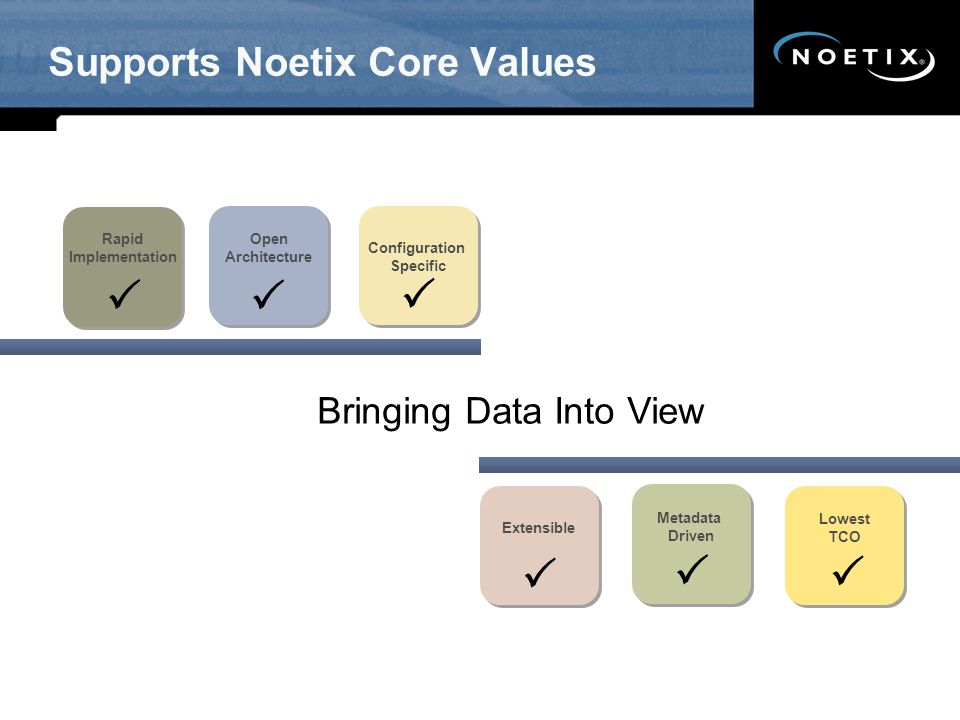 Supports Noetix Core Values