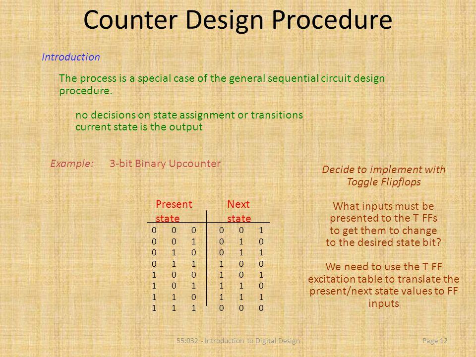 Counter Design Procedure