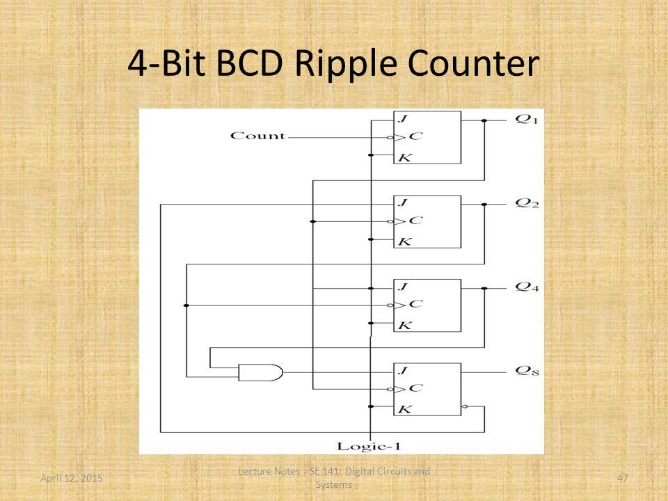 4-Bit BCD Ripple Counter
