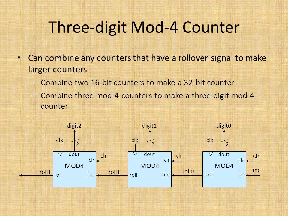 Three-digit Mod-4 Counter