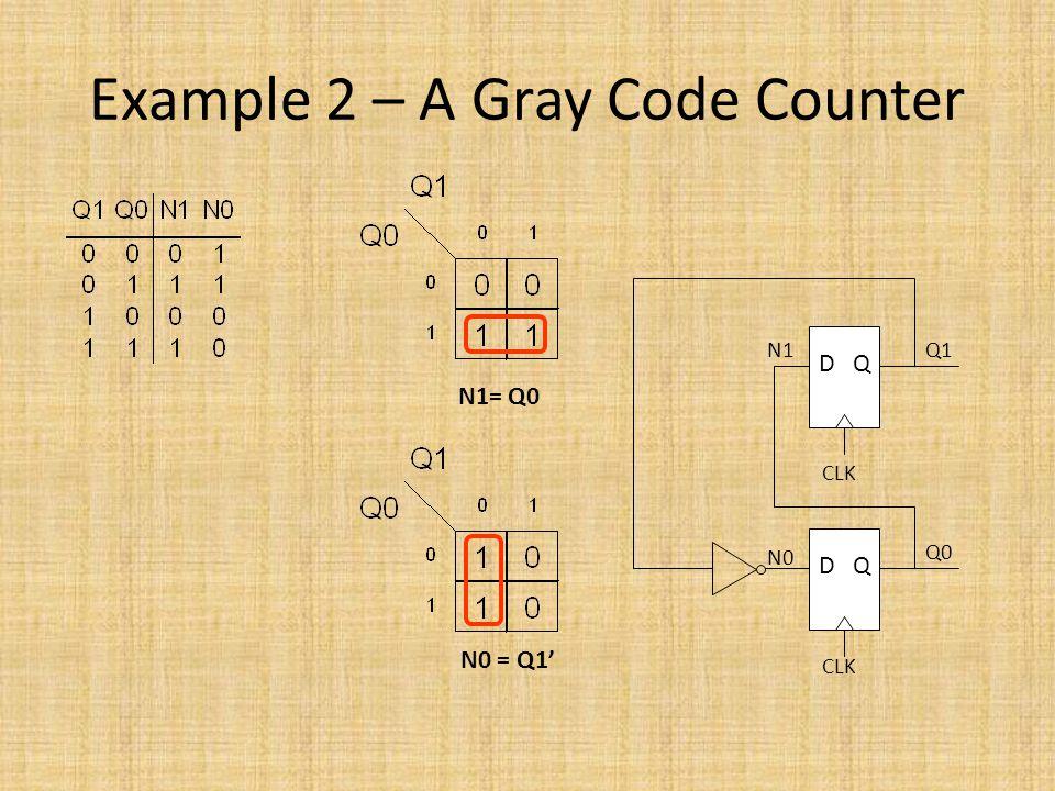 Example 2 – A Gray Code Counter