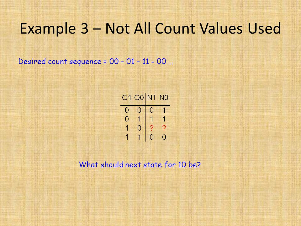Example 3 – Not All Count Values Used