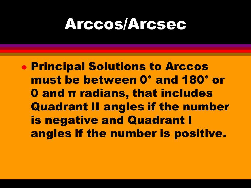 Arccos/Arcsec