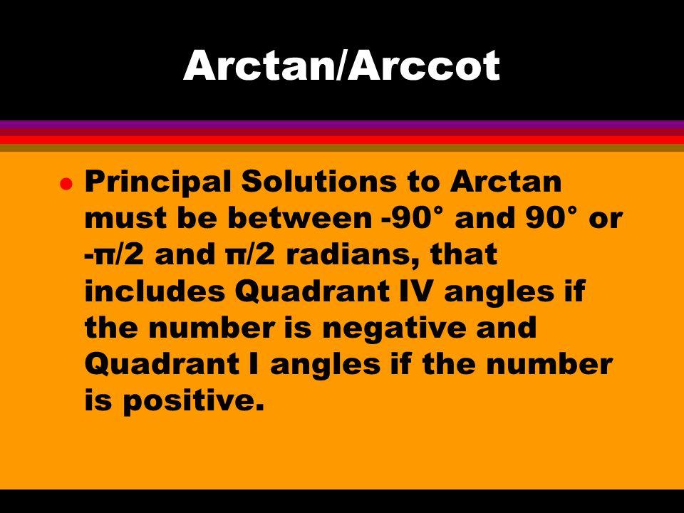Arctan/Arccot