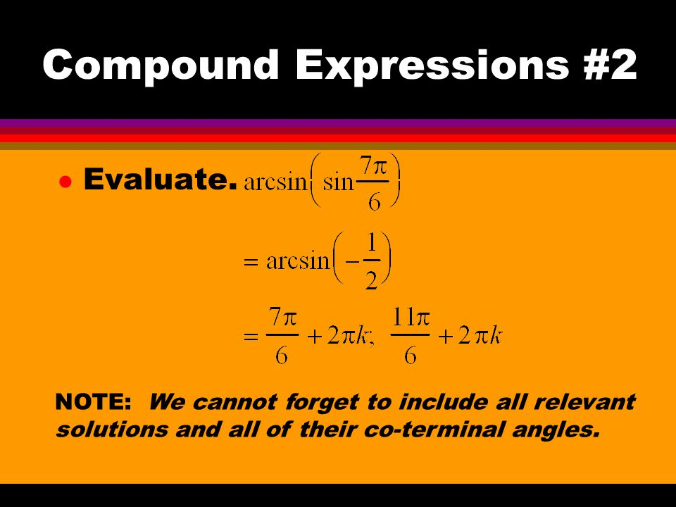 Compound Expressions #2