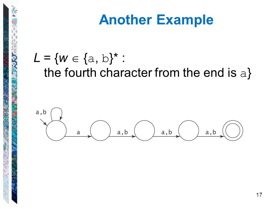 Another Example L = {w  {a, b}* :