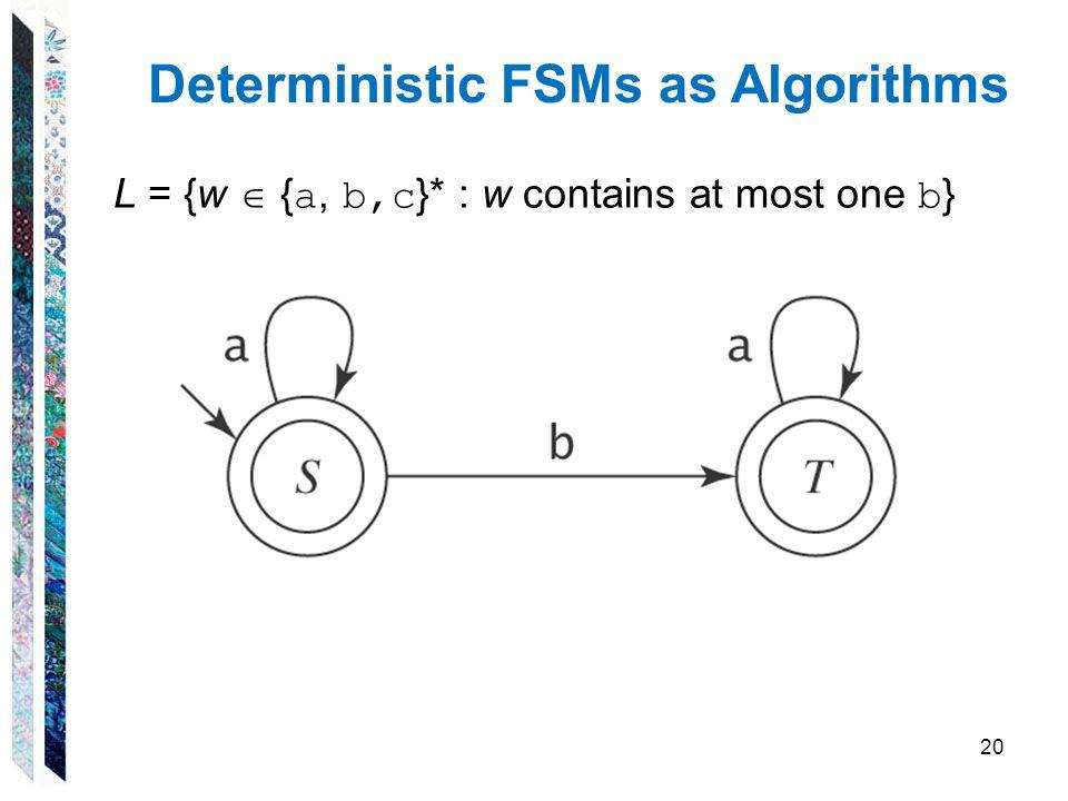 Deterministic FSMs as Algorithms
