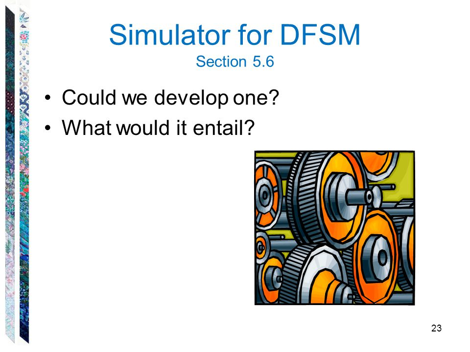 Simulator for DFSM Section 5.6