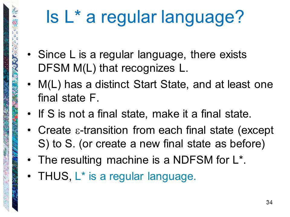 Is L* a regular language
