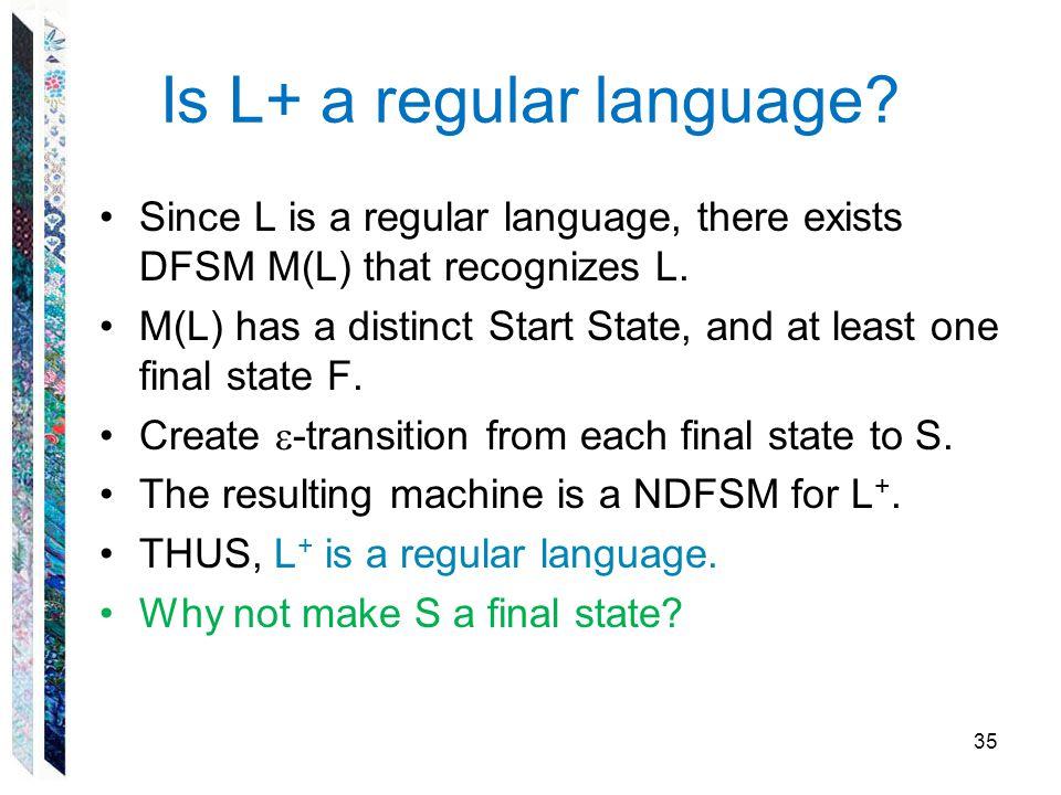 Is L+ a regular language