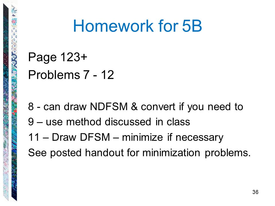 Homework for 5B Page 123+ Problems 7 - 12