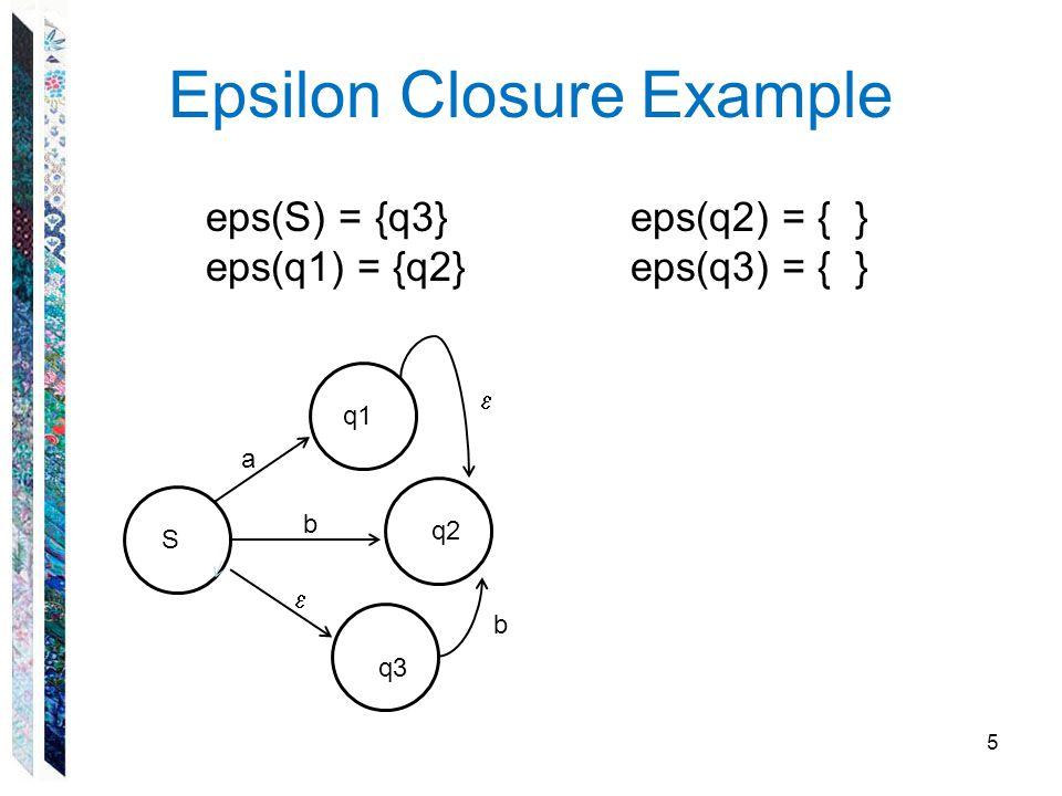 Epsilon Closure Example