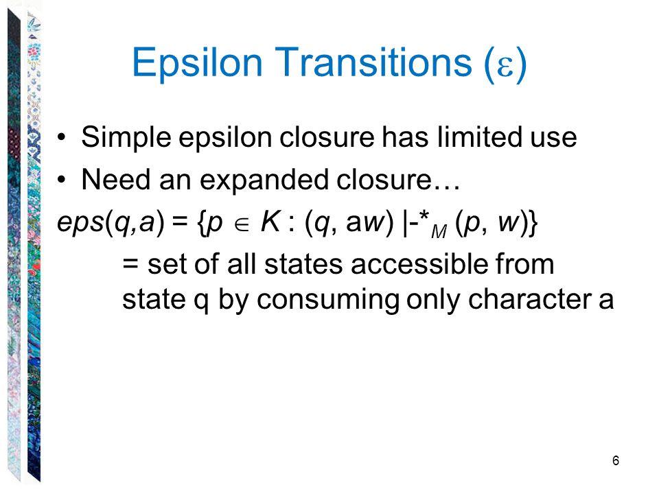 Epsilon Transitions ()