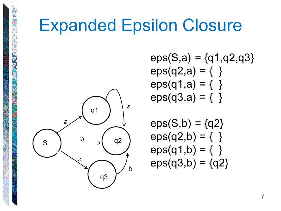 Expanded Epsilon Closure
