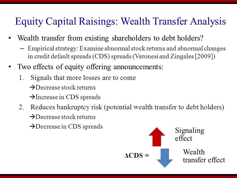 Equity Capital Raisings: Wealth Transfer Analysis