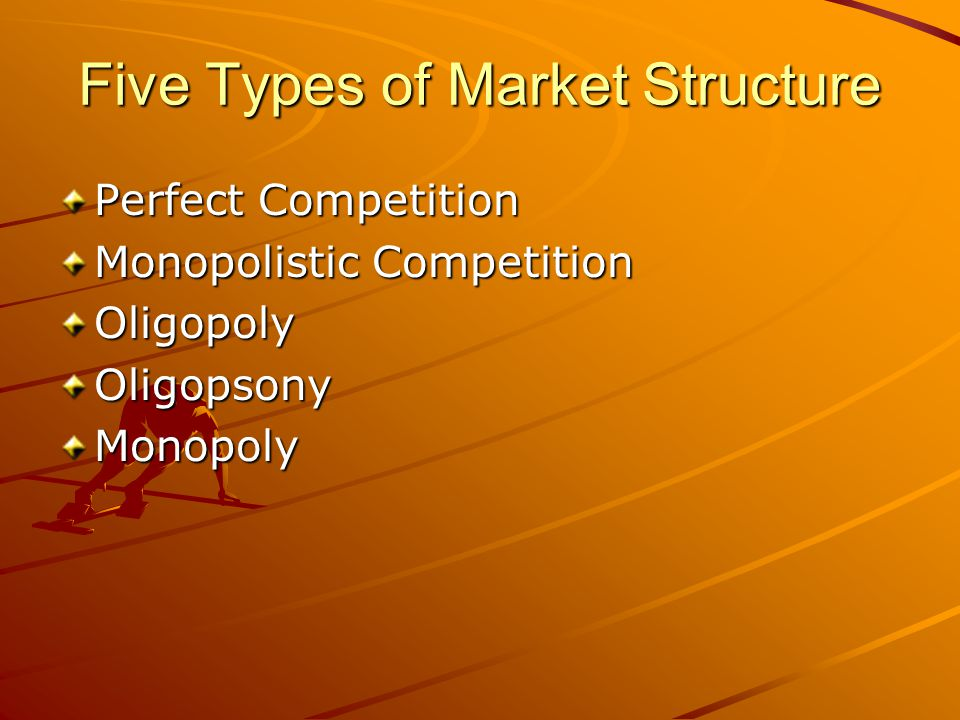 Five Types of Market Structure