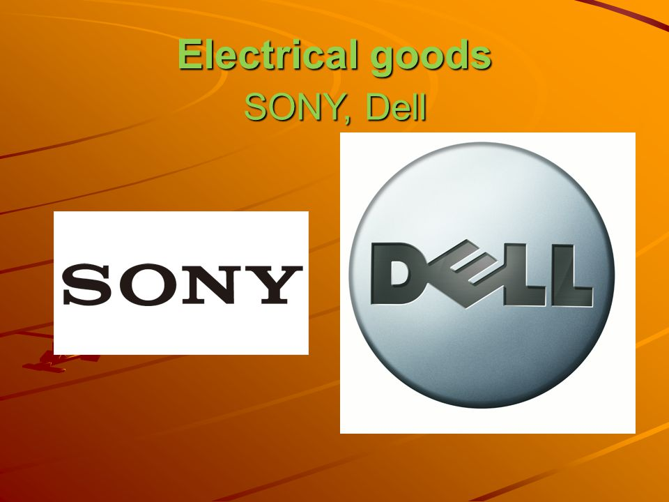 Electrical goods SONY, Dell