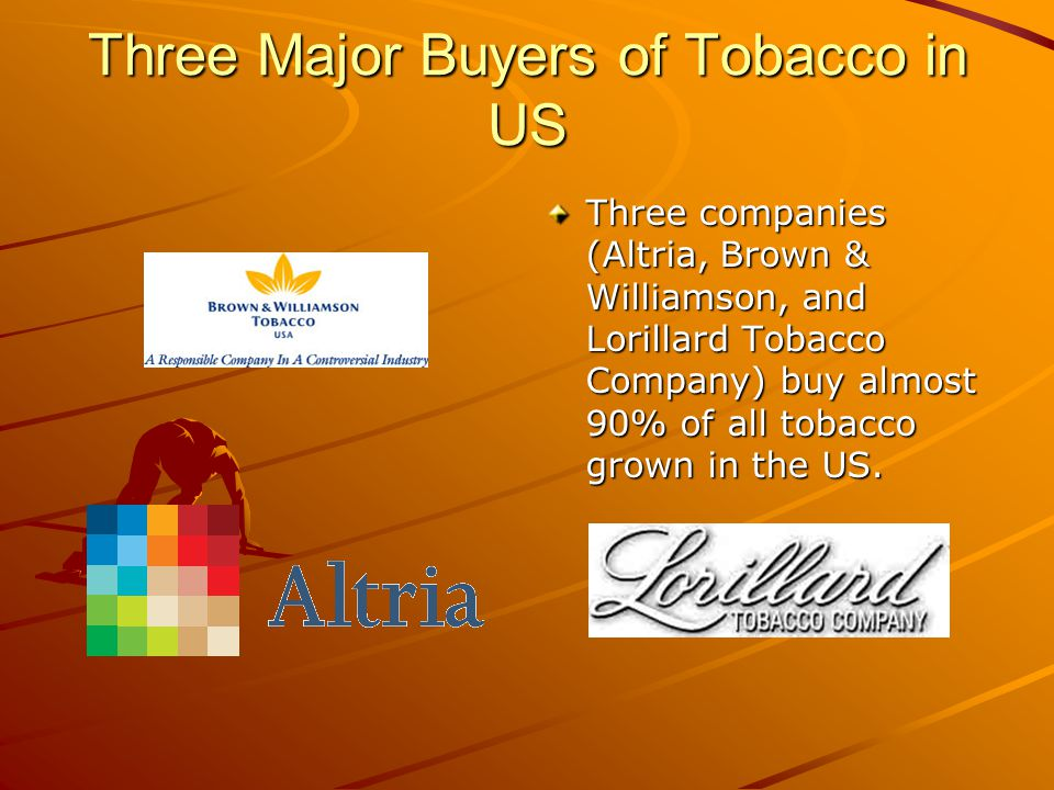 Three Major Buyers of Tobacco in US