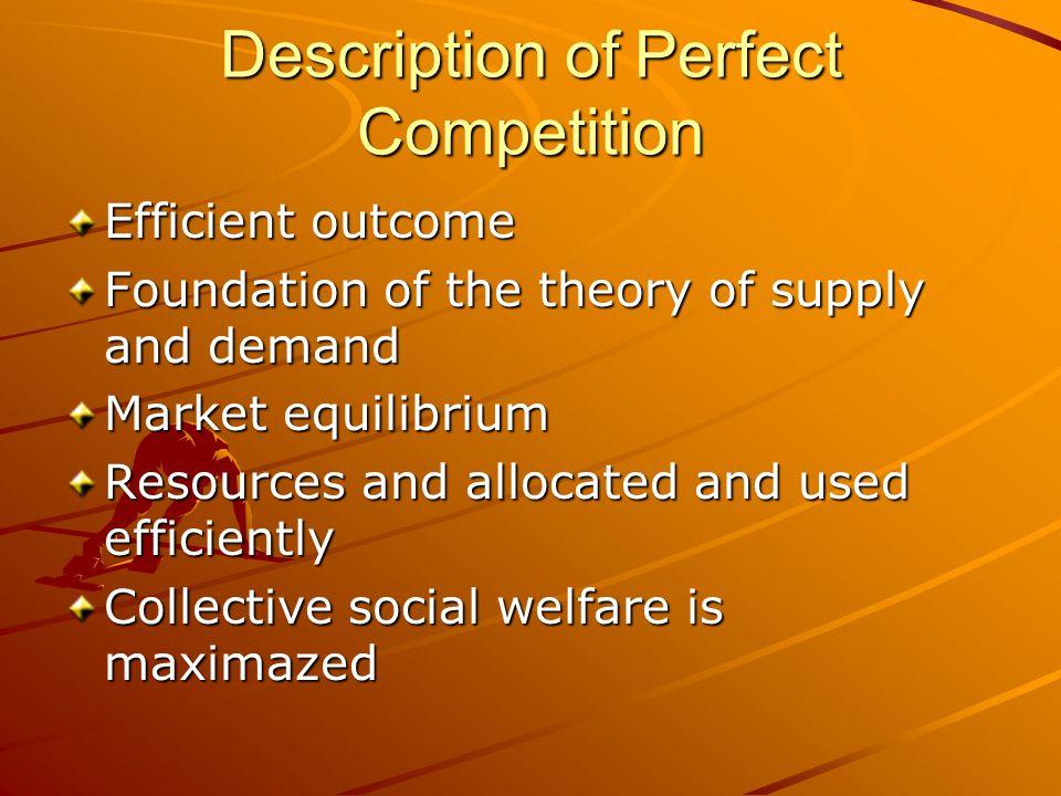 Description of Perfect Competition