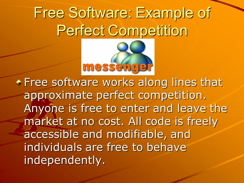 Free Software: Example of Perfect Competition