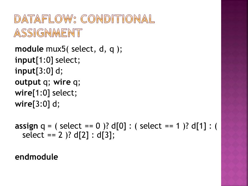 Dataflow: conditional assignment