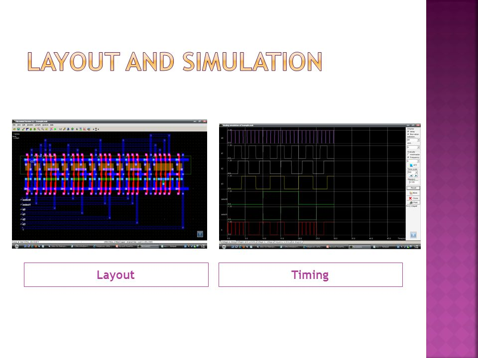 Layout and simulation Layout Timing