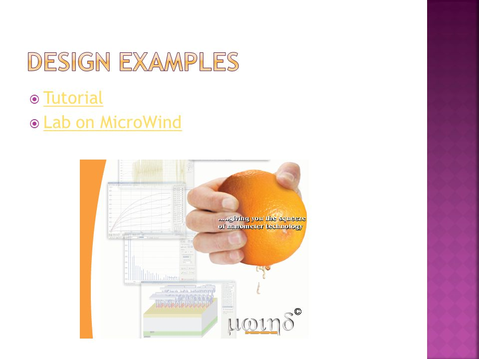 Design Examples Tutorial Lab on MicroWind