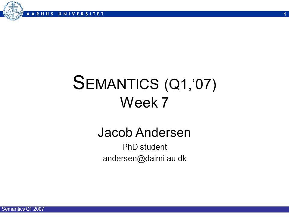 Jacob Andersen PhD student andersen@daimi.au.dk