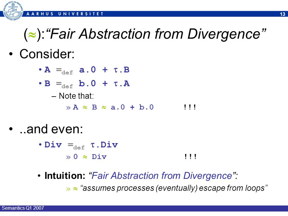 (): Fair Abstraction from Divergence
