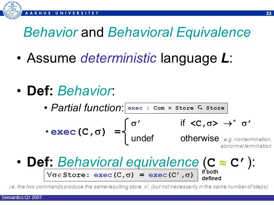 Behavior and Behavioral Equivalence