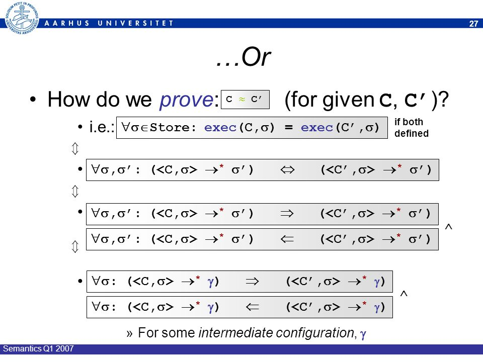 …Or How do we prove: (for given C, C') i.e.: