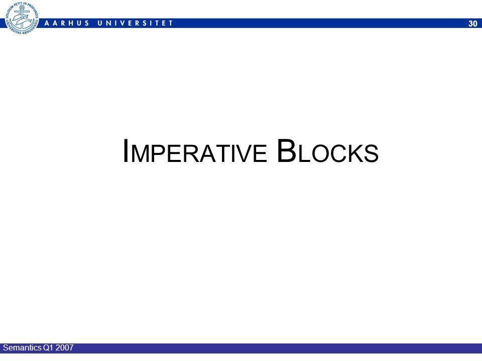 IMPERATIVE BLOCKS Semantics Q1 2007