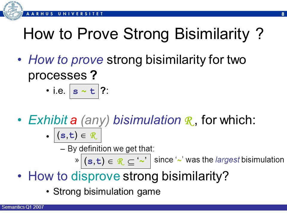 How to Prove Strong Bisimilarity