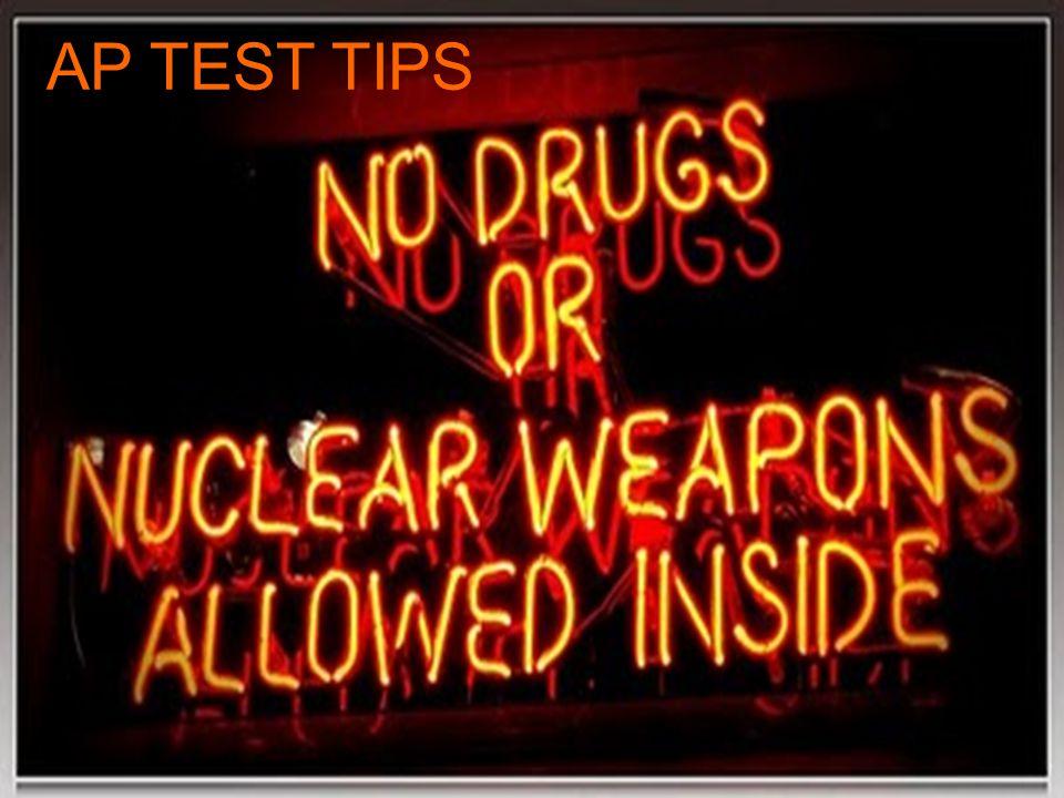 AP TEST TIPS