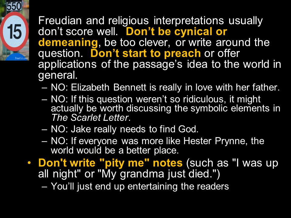 Freudian and religious interpretations usually don't score well