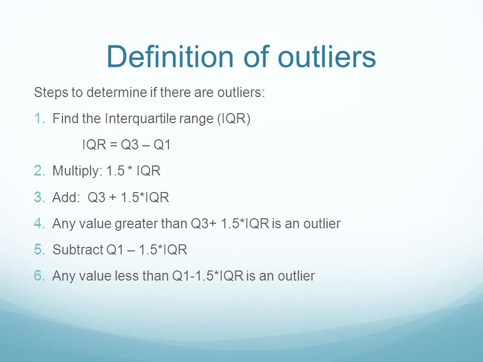 Definition of outliers