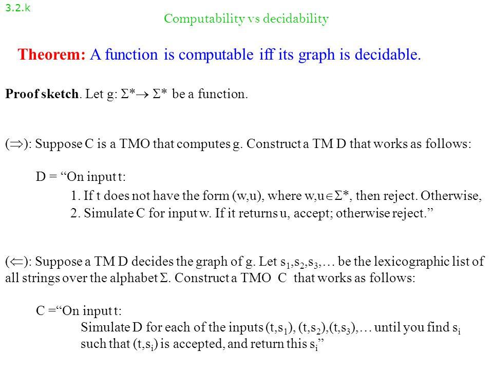 Computability vs decidability