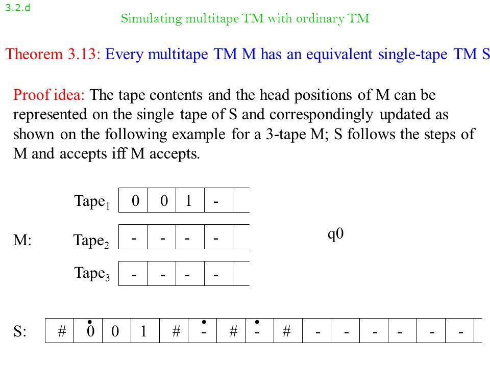 Simulating multitape TM with ordinary TM
