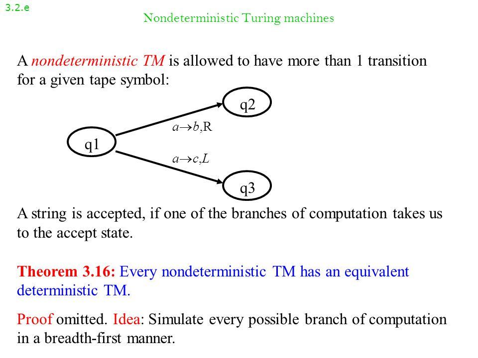 Nondeterministic Turing machines