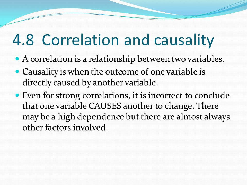 4.8 Correlation and causality