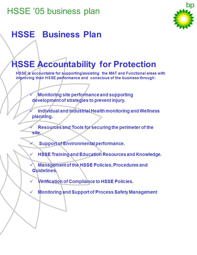 HSSE Accountability for Protection