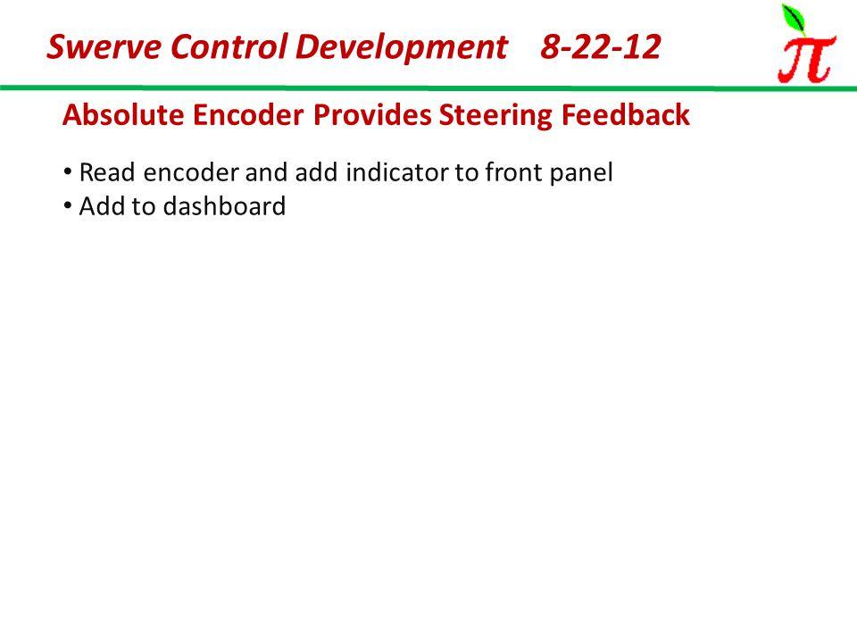 Absolute Encoder Provides Steering Feedback