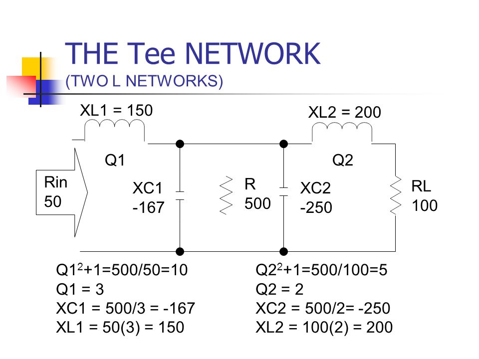 THE Tee NETWORK (TWO L NETWORKS)