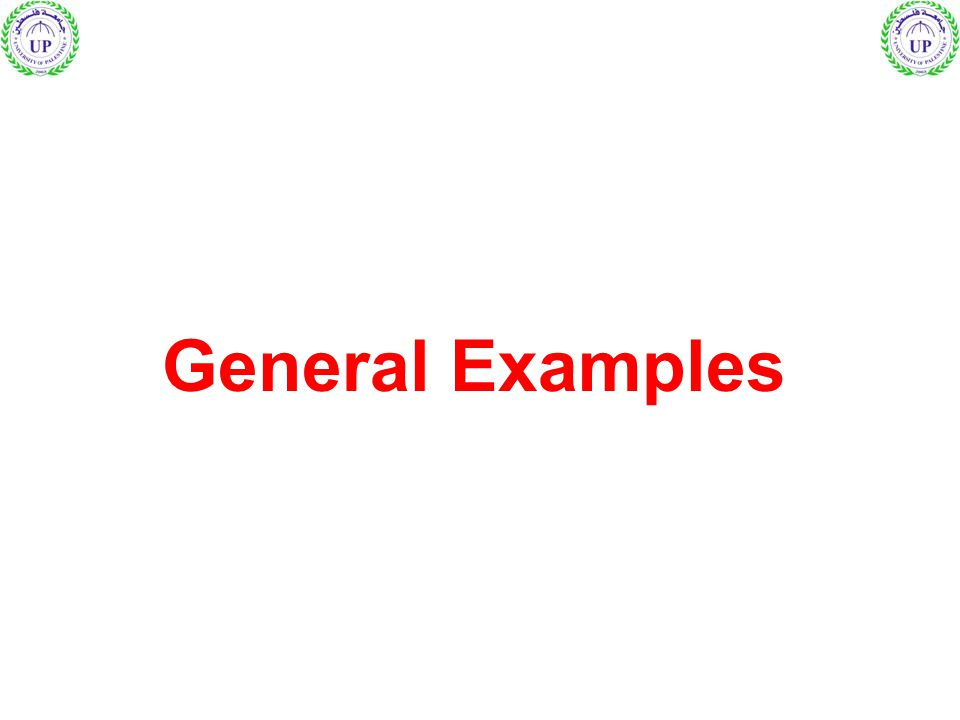 General Examples