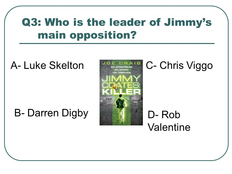 Q3: Who is the leader of Jimmy's main opposition