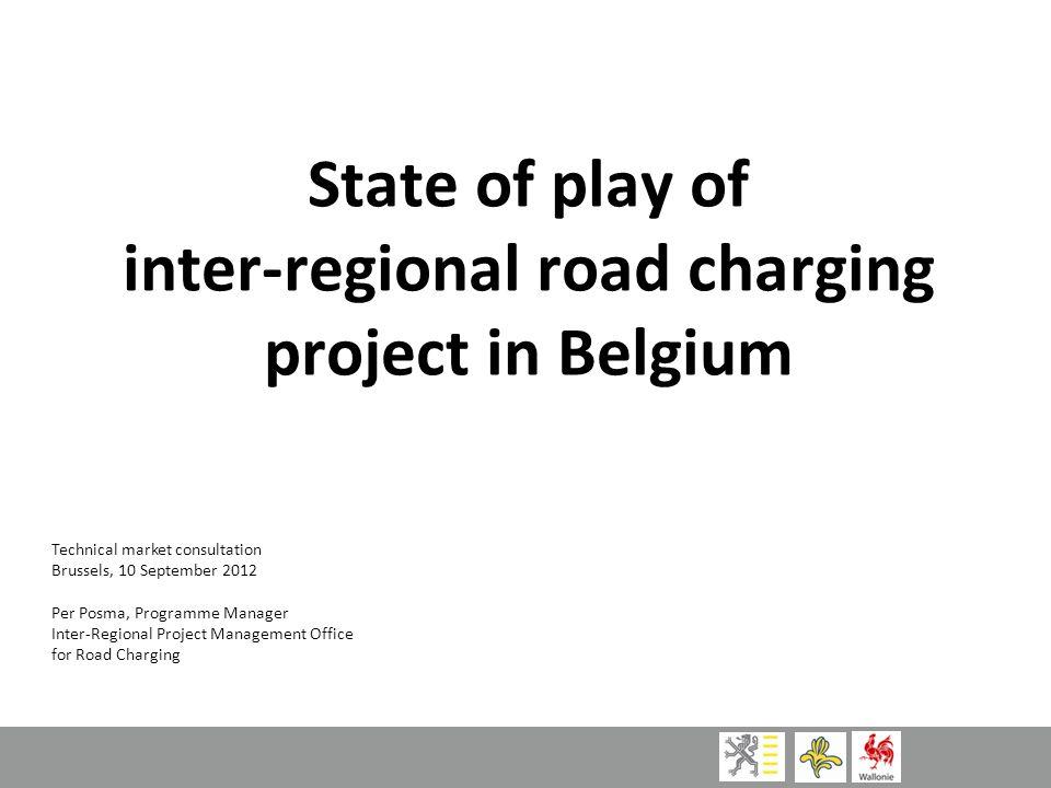 inter-regional road charging project in Belgium