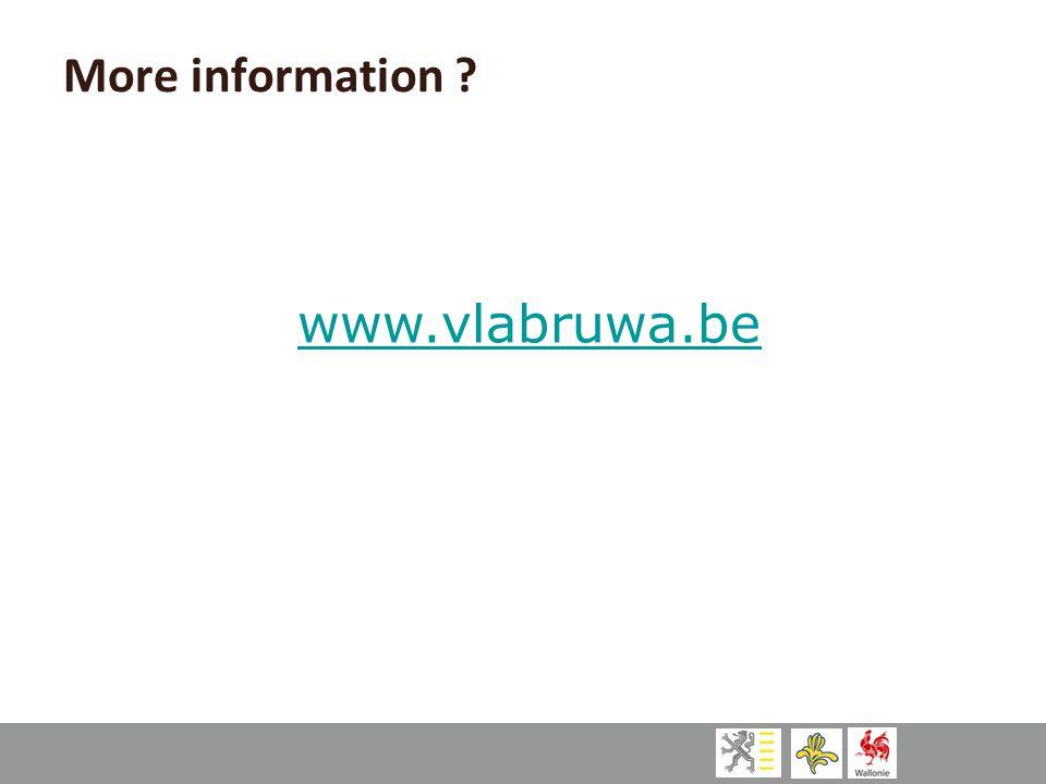More information www.vlabruwa.be
