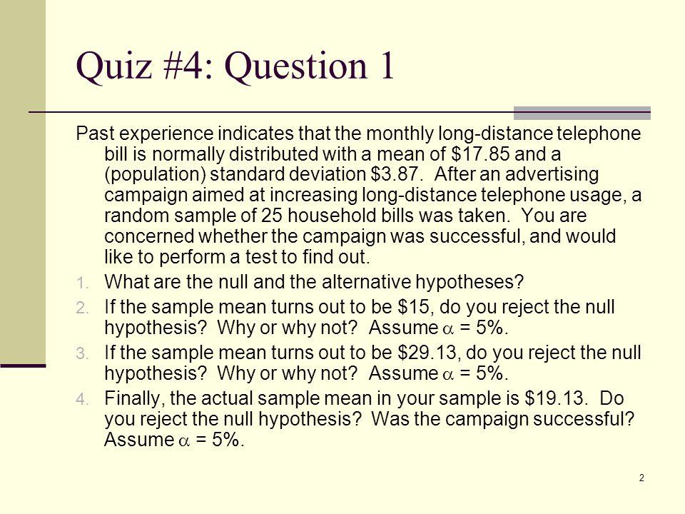 Quiz #4: Question 1