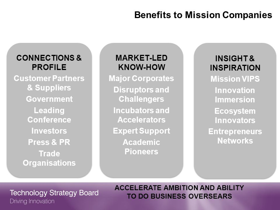 Benefits to Mission Companies
